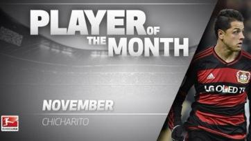 Чичарито – лучший игрок Бундеслиги в ноябре