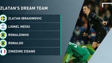 Златан Ибрагимович назвал свою «команду мечты»