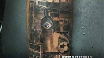 Неймар изобразил свои мечты на новой татуировке