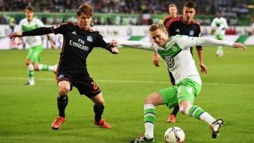 «Вольфсбург» сыграл вничью с «Гамбургом»