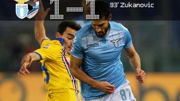 «Лацио» упустил победу в матче с «Сампдорией»