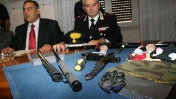 Итальянская полиция задержала четверых поклонников «Ювентуса» за незаконное хранение оружия