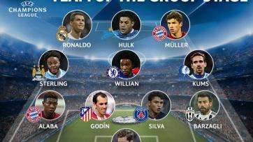 Халк был включён в сборную группового этапа Лиги чемпионов