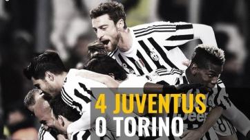 «Ювентус» разгромил «Торино» и вышел в четвертьфинал Кубка Италии