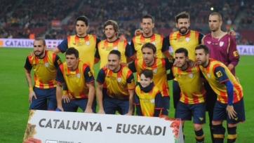 Пике и Альба не смогли помочь сборной Каталонии обыграть команду Басков (видео)