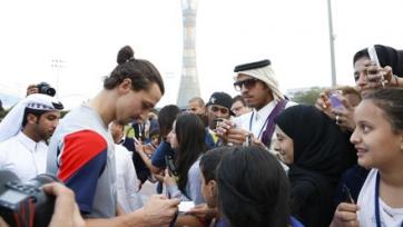 ПСЖ прибыл в Катар и провёл первую тренировку