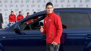 Хамес Родригес промчался по Мадриду со скоростью 200 км/час, и рискует остаться без прав