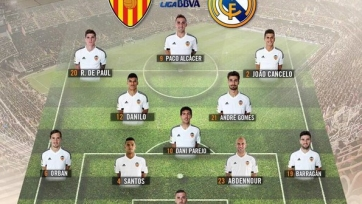 Стартовые составы матча между «Валенсией» и «Реалом»