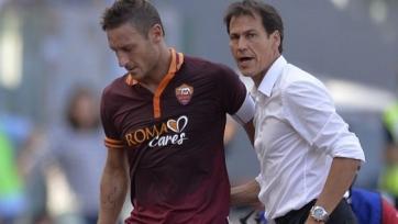Руди Гарсия: «Тотти готов помочь нам в игре с «Миланом»