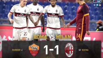 «Рома» и «Милан» поделили очки