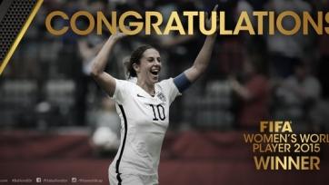 Карли Ллойд – лучшая футболистка 2015-го года
