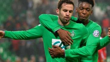 «Сент-Этьен» вышел в 1/8 финала Кубка Франции