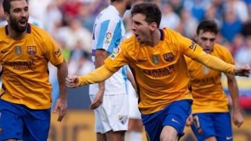 «Барселона» добилась победы в Малаге