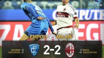 «Эмполи» и «Милан» разошлись миром