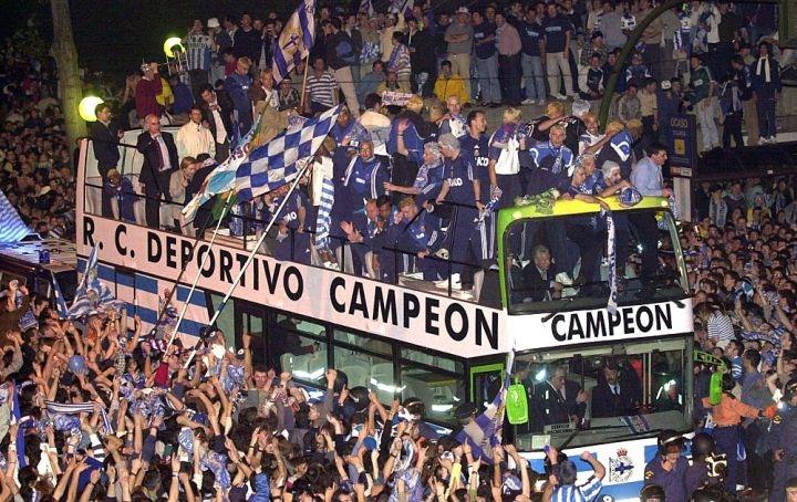 Более двухсот тысяч жителей Ла-Коруньи праздновали победу своего клуба в Примере прямо на улицах города