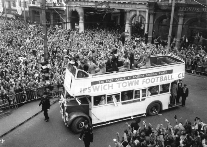Так в Ипсвиче праздновали чемпионский титул 1962-го года