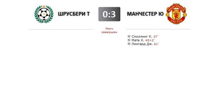 Шрусбери Таун - Манчестер Юнайтед прямая трансляция онлайн в 22.45 (мск)