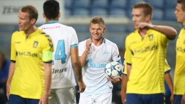 Кокорин и Жирков дебютировали за «Зенит» в победном матче с «Брондбю»