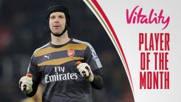 Петр Чех признан лучшим игроком «Арсенала» в январе