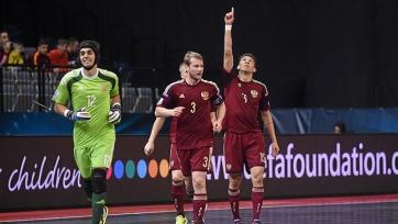 Сборная России стартовала с победы на Чемпионате Европы по футзалу (видео)