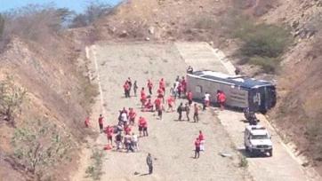 Автобус с футболистами аргентинской команды опрокинулся на венесуэльской трассе