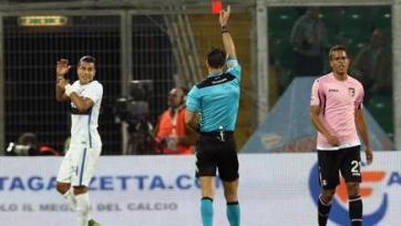 Футболисты «Интера» готовы обновить командный антирекорд по красным карточкам