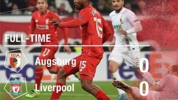 «Аугсбург» и «Ливерпуль» не сумели выявить победителя