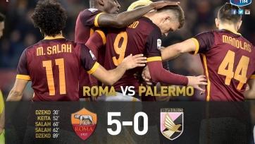 «Рома» разгромила «Палермо»