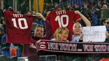 Франческо Тотти смотрел матч «Ромы» с трибуны
