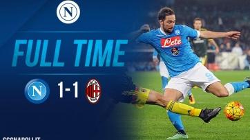 «Наполи» и «Милан» разошлись миром