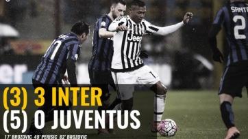 «Ювентус» в драматичной борьбе всё же прошёл «Интер»