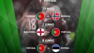 До Евро-2016 сборная Португалии проведёт пять контрольных встреч