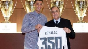 Флорентино Перес поздравил Роналду с 350-м голов в составе «Реала»