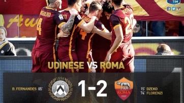 «Рома» выиграла в Удине
