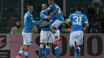 «Наполи» с минимальным счётом одолел «Палермо», а «Лацио» оказался сильнее «Аталанты»