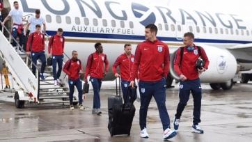 Английская сборная прибыла в Германию