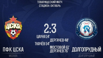 ЦСКА проиграл команде второго российского дивизиона