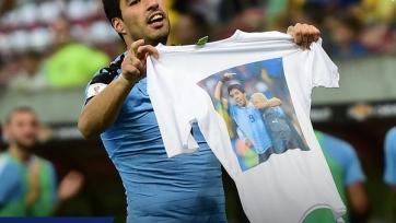 Луис Суарес посвятил свой гол в ворота бразильцев скончавшемуся от рака физиотерапевту