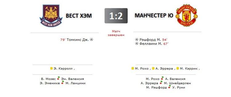 Вест Хэм - Манчестер Юнайтед прямая трансляция онлайн в 21.00 (мск)
