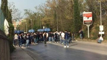 Тифози «Лацио» устроили беспорядки рядом с базой команды