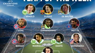 Четыре футболиста «Вольфсбурга» - в команде недели Лиги чемпионов