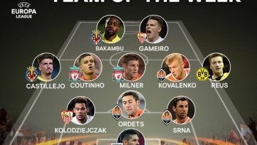 Сайт УЕФА опубликовал символическую сборную ЛЕ на этой неделе
