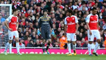«Арсенал» потерял очки с «Кристал Пэлас» и упустил шанс вернуться на третье место