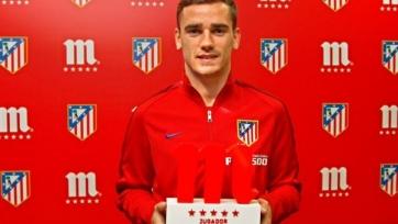 Антуан Гризманн - лучший игрок «Атлетико» в прошлом месяце