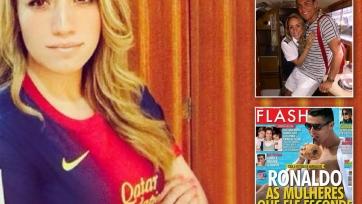Новая пассия Роналду болеет за «Барселону»