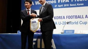Джанни Инфантино предложил провести товарищеский матч между сборными Северной и Южной Кореи
