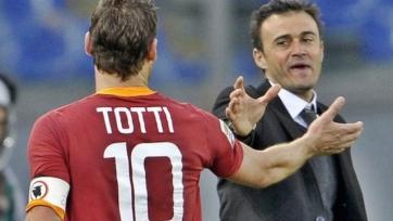 Луис Энрике: «Надеюсь, что свою карьеру Тотти закончит в «Роме»