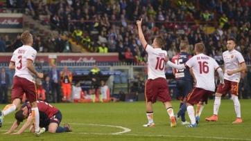 «Рома» выиграла в Генуе и временно поднялась на второе место