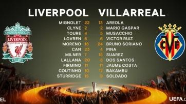 «Ливерпуль» - «Вильярреал», онлайн-трансляция. Стартовые составы команд