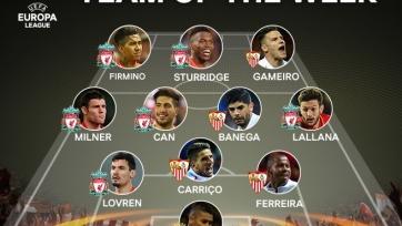 Обнародована сборная недели в Лиге Европы